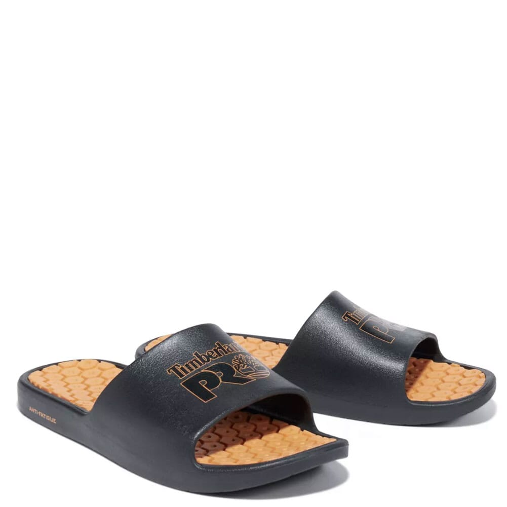 Image for Timberland Pro Unisex Anti-Fatigue Technology Slides - Black/Orange from bootbay