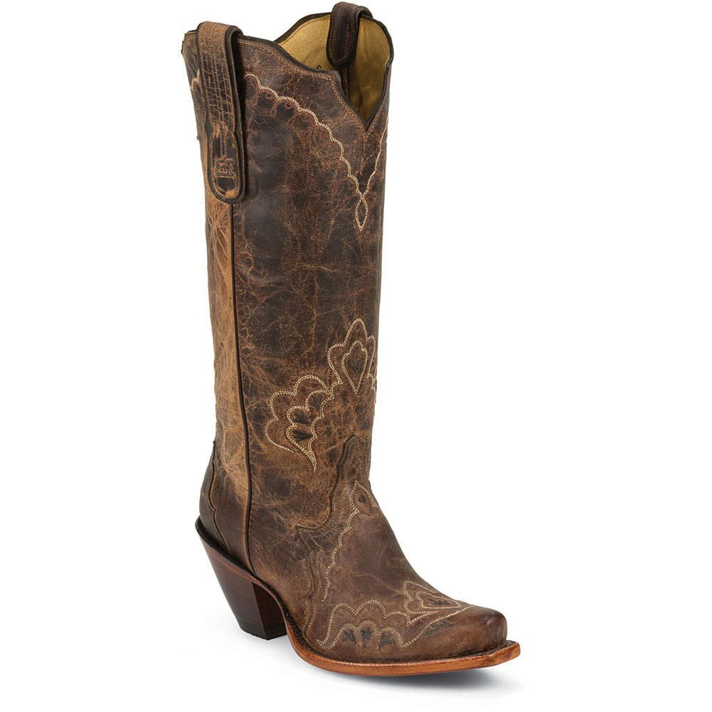 Image for Tony Lama Women's Worn Goat Western Boots - Tan Saigets from bootbay