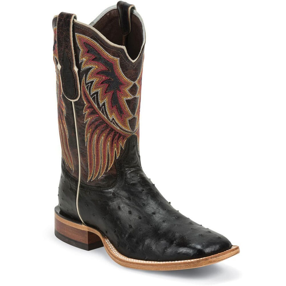 Image for Tony Lama Men's Lux Ostrich Western Boots - Black from bootbay