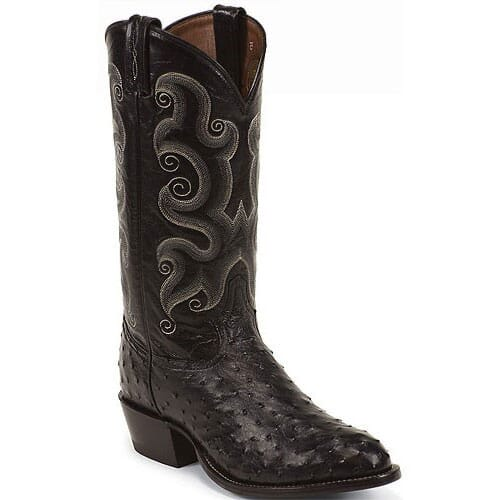 Image for Tony Lama Men's Ostrich Western Boots - Black from bootbay