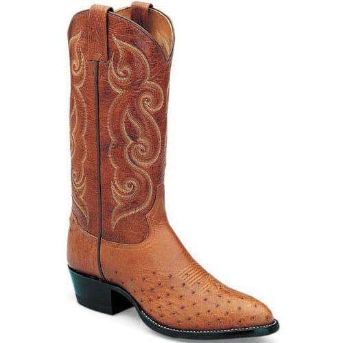Image for Tony Lama Men's Bonham Rust Ostrich Western Boots - Peanut Brittle from bootbay