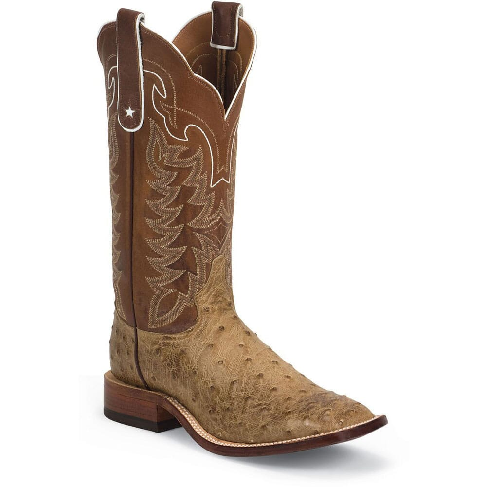 Image for Tony Lama Men's FQ Ostrich Western Boots - Antique Tan from bootbay