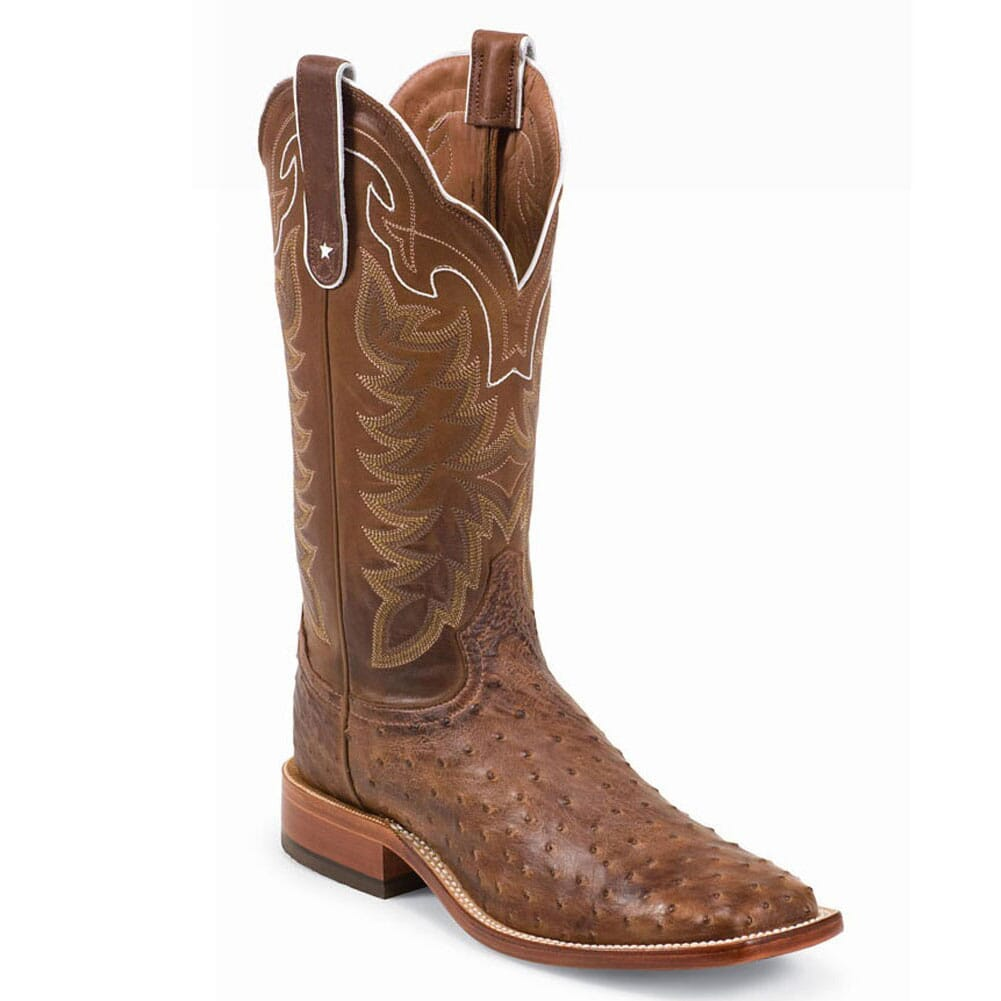 Image for Tony Lama Men's Vintage Ostrich Western Boots - Chocolate from bootbay