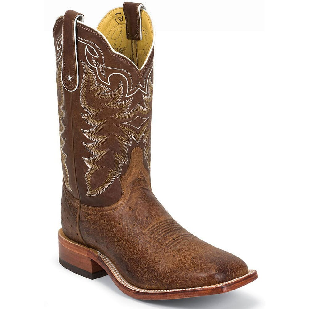 Image for Tony Lama Men's Vintage Ostrich Western Boots - Travis Chocolate from bootbay