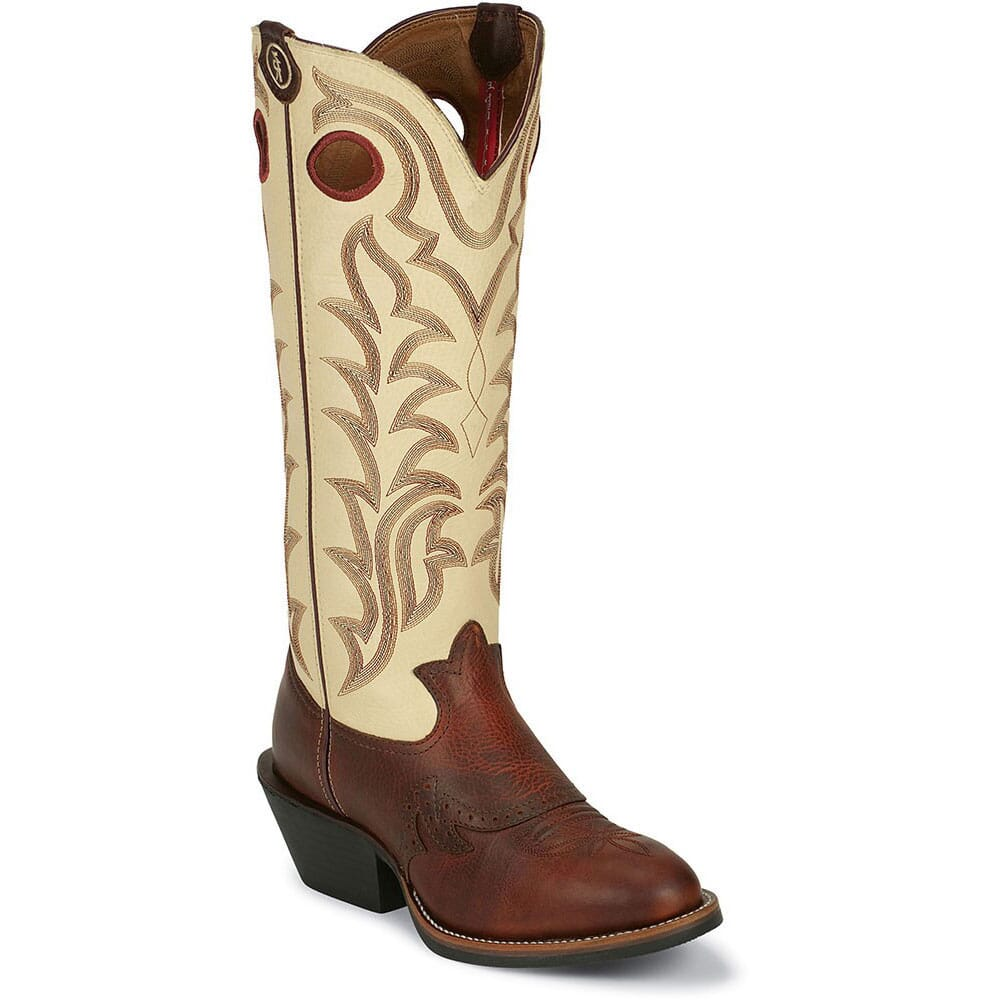 Image for Tony Lama Men's 3R Western Boots - Ivory from bootbay