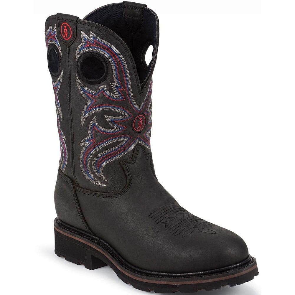 Image for Tony Lama Men's 3R Western Safety Boots - Black from bootbay