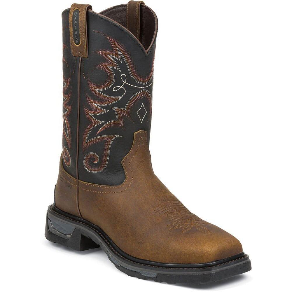 Image for Tony Lama Men's Tacoma TLX CT Safety Boots - Walnut from bootbay