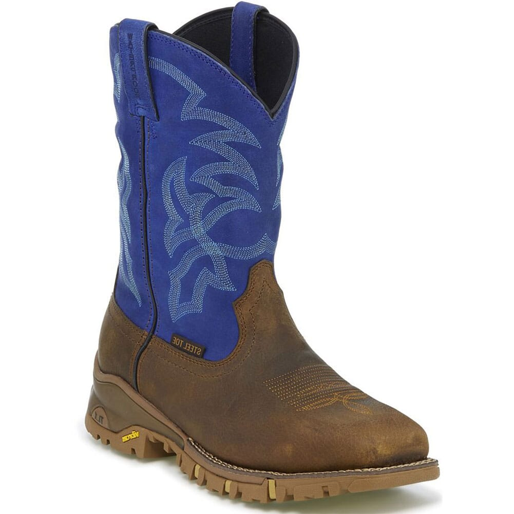 Image for Tony Lama Men's Roustabout WP Safety Boots - Blue/Tan from bootbay