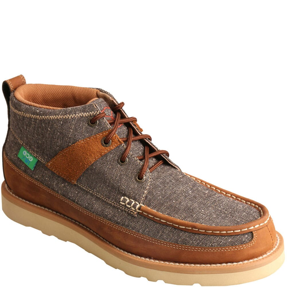 Image for Twisted X Men's Wedge Sole Casual Shoes - Dust Brown from bootbay