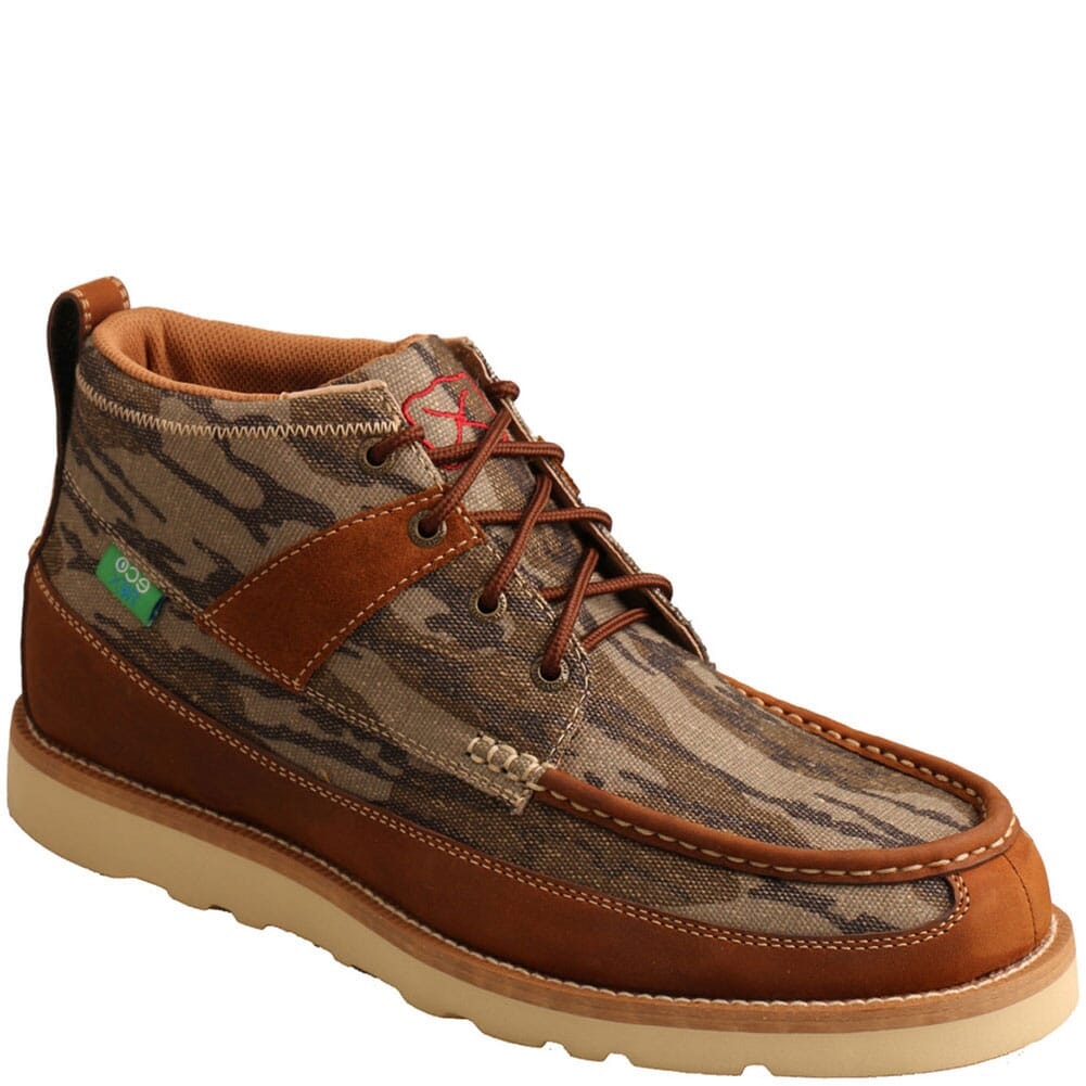 Image for Twisted X Men's Mossy Oak Wedge Casual Shoes - Camo/Oiled Saddle from bootbay
