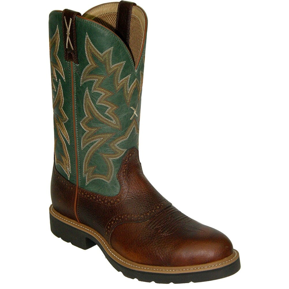 Image for Twisted X Men's Pull On Work Boots - Green from bootbay