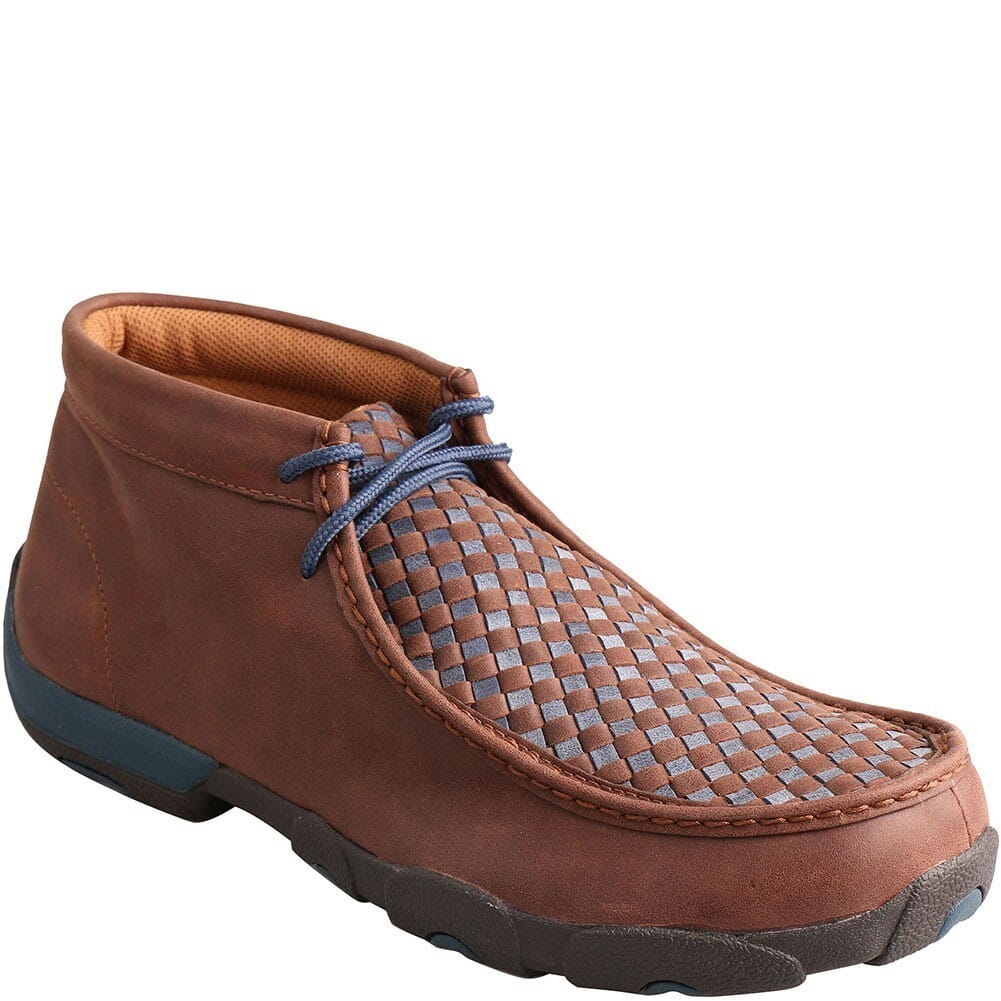 Image for Twisted X Men's Driving Moc Casual Shoes - Brown/Blue from bootbay