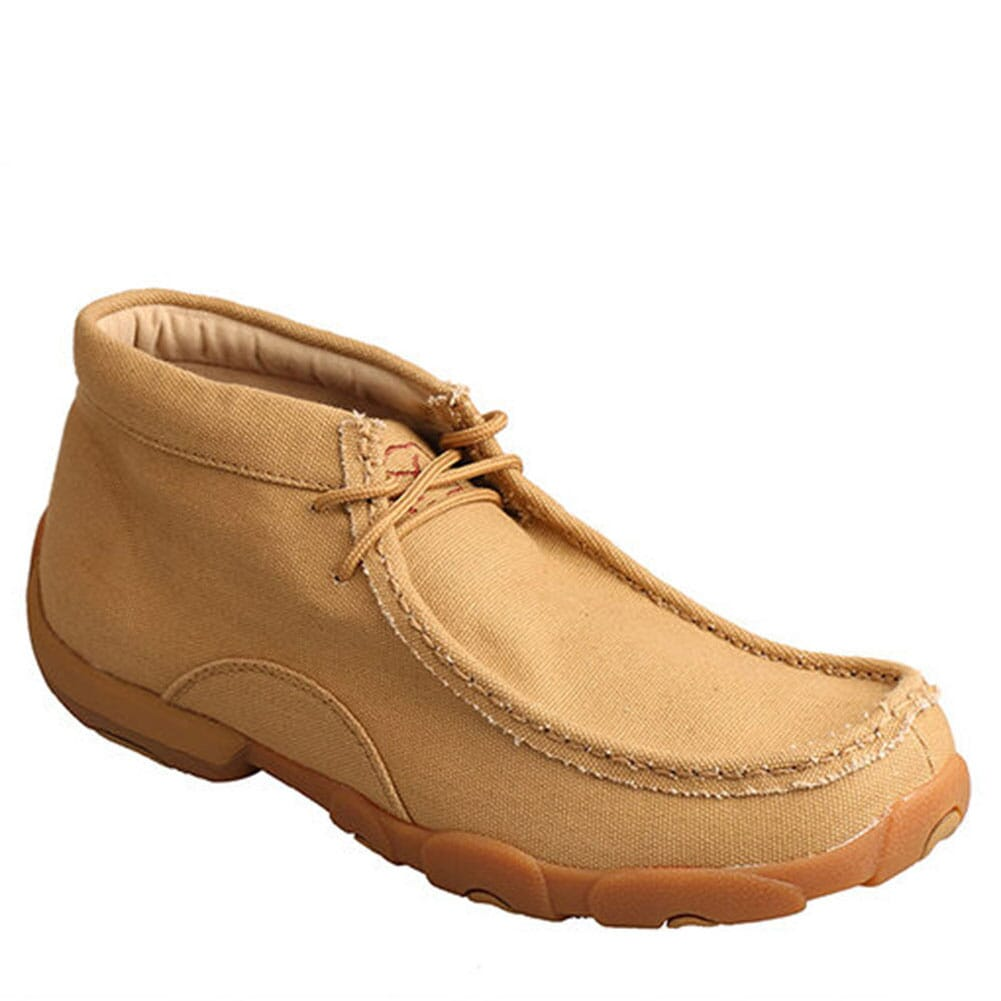 Image for Twisted X Men's Driving Moccasin Shoes - Khaki Canvas from bootbay