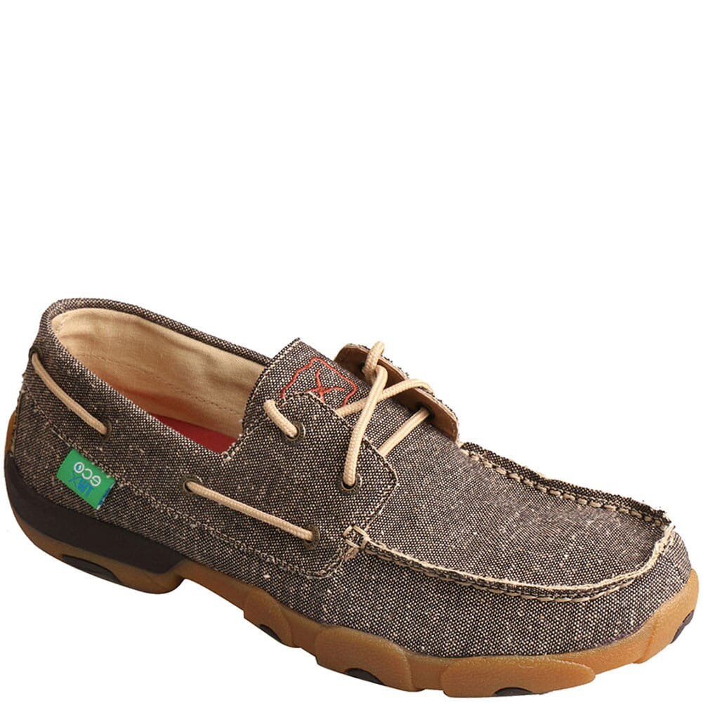 Image for Twisted X Men's Driving Moc Boat Shoes - Dust from bootbay