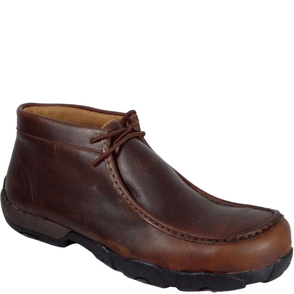 Image for Twisted X Men's Driving Moc Safety Shoes - Oiled Brown from bootbay