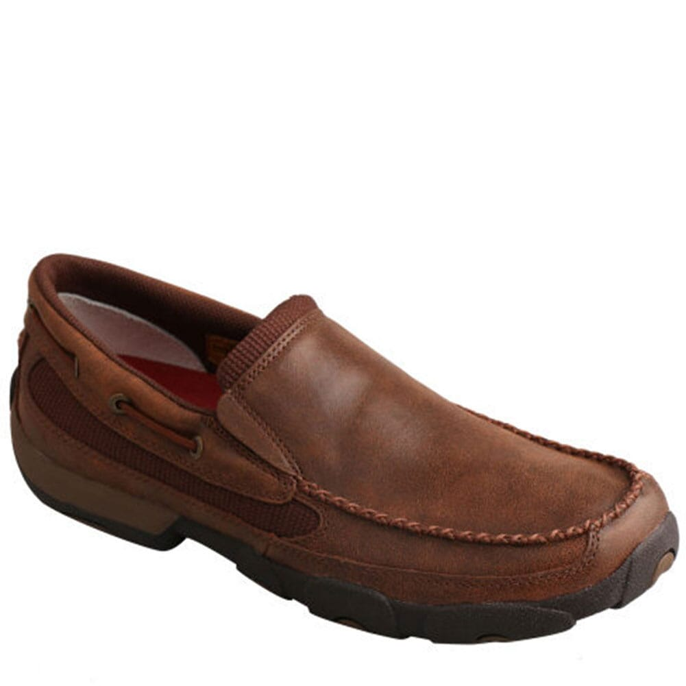 Image for Twisted X Men's Slip-on Driving Moccasins - Brown from bootbay