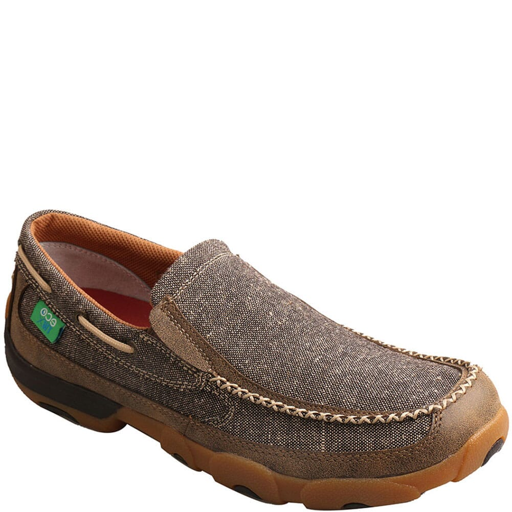 Image for Twisted X Men's Slip-On Driving Moc Casual Shoes - Dust from bootbay