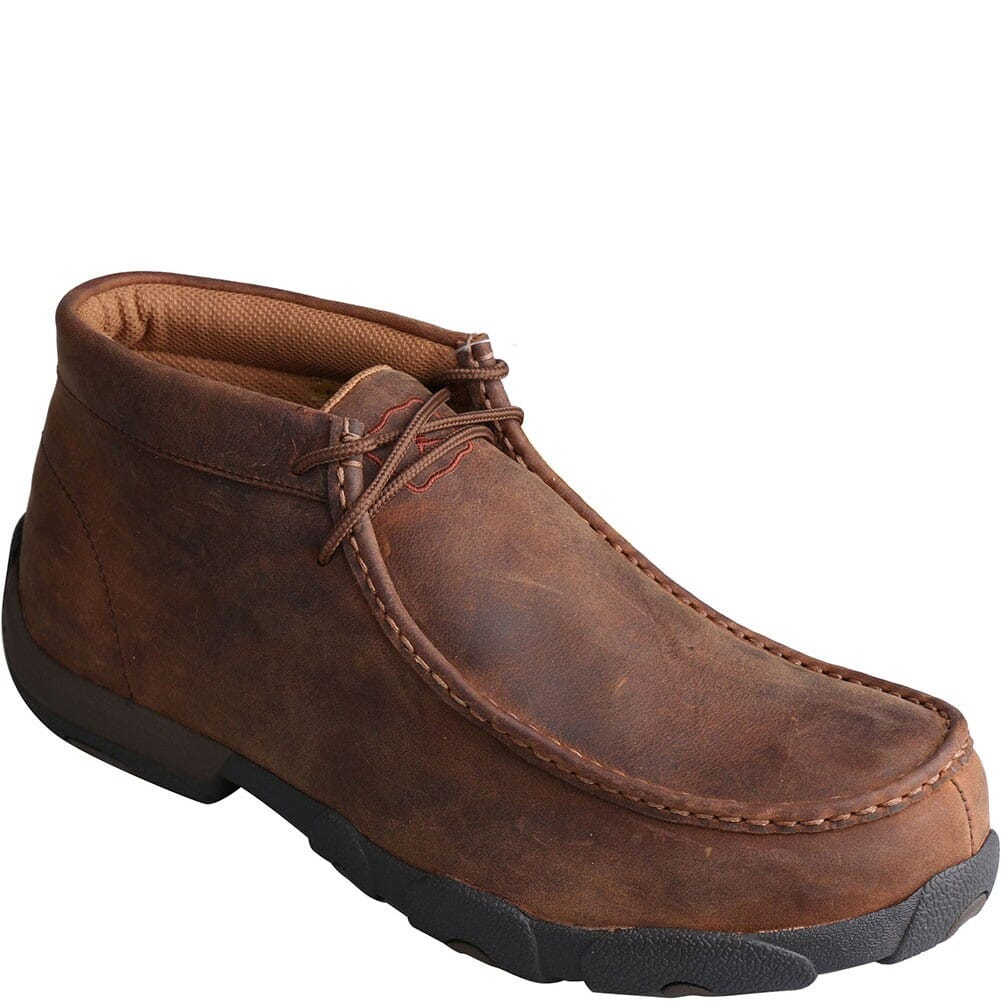 Image for Twisted X Men's Driving Moc Met Safety Shoes - Peanut from bootbay