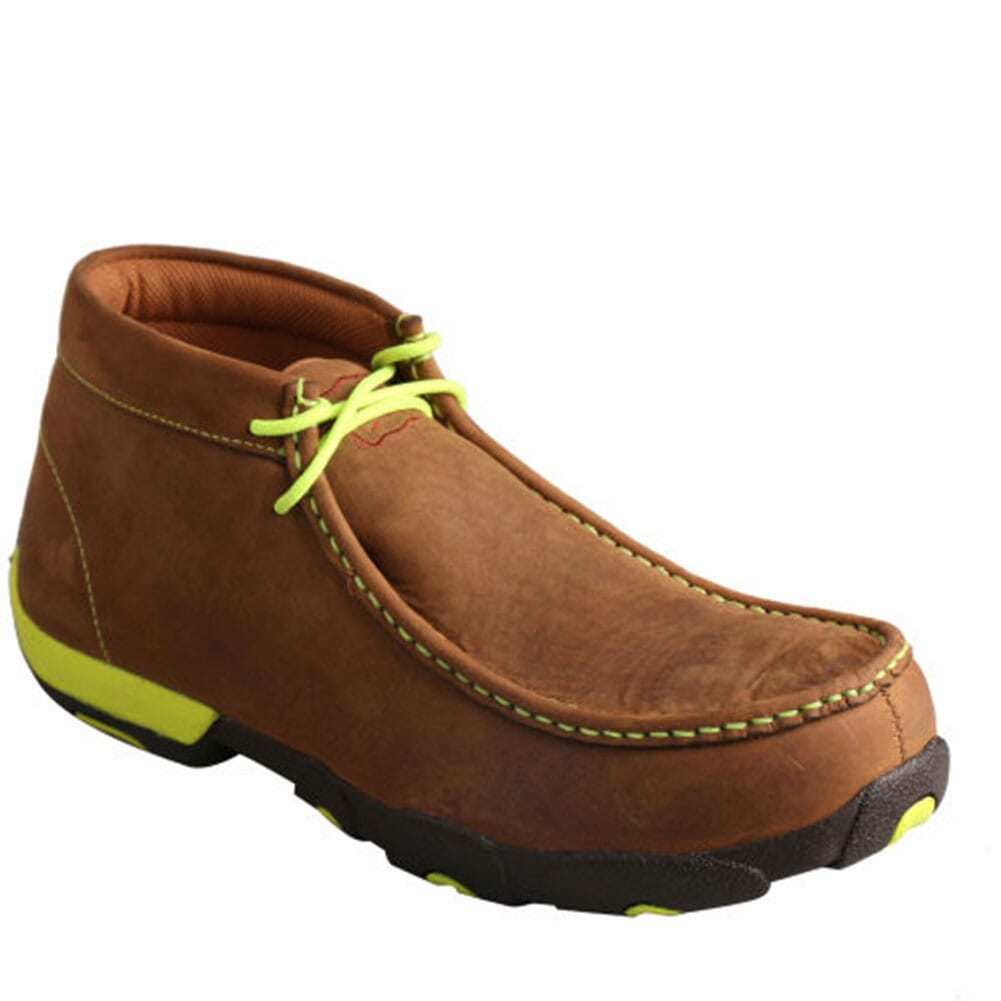 Image for Twisted X Men's Driving Safety Moccasins - Distressed Saddle from bootbay
