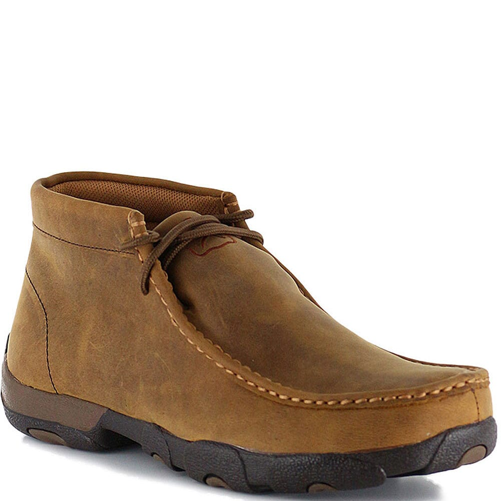 Image for Twisted X Men's Driving Moc Casual Shoes - Distressed Saddle from bootbay