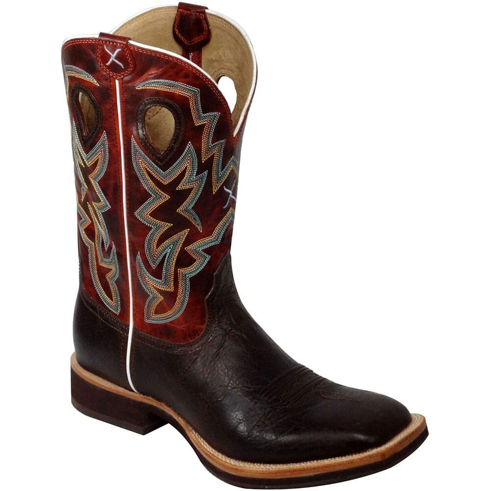Image for Twisted X Men's Ruff Stock Western Boots - Chocolate from bootbay