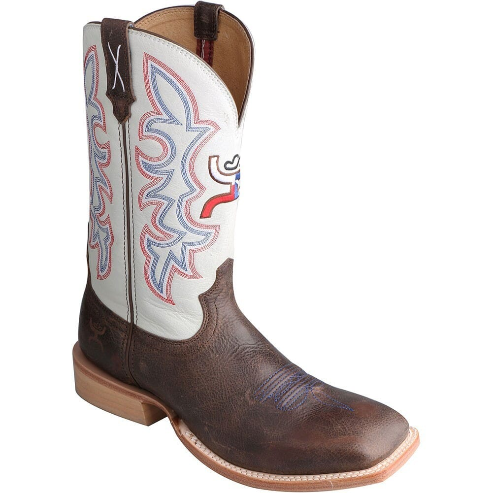 Image for Twisted X Men's Hooey Western Boots - White/Brown from bootbay