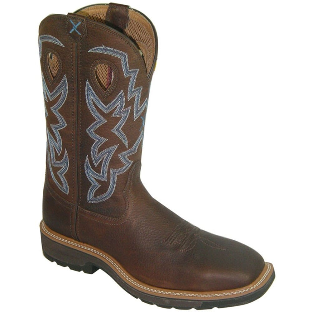 Image for Twisted X Men's Lite Cowboy ST Safety Boots - Brown Pebble from bootbay
