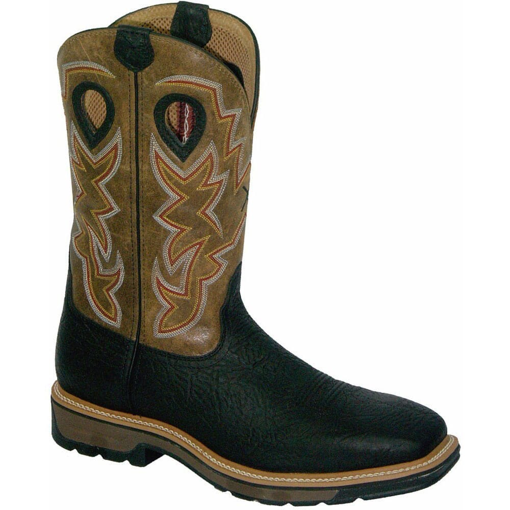 Image for Twisted X Men's Lightweight Safety Boots - Brown/Black from bootbay