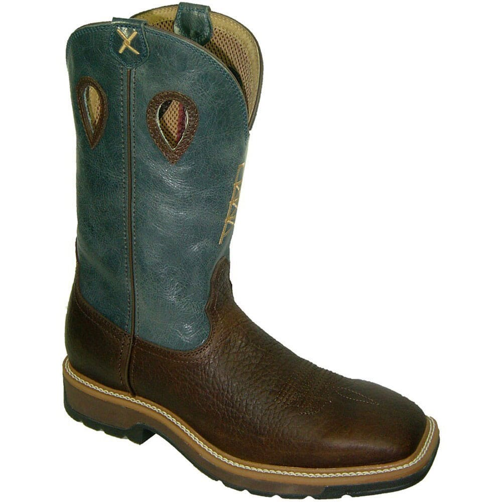 Image for Twisted X Men's Lightweight Safety Boots - Blue/Cognac from bootbay