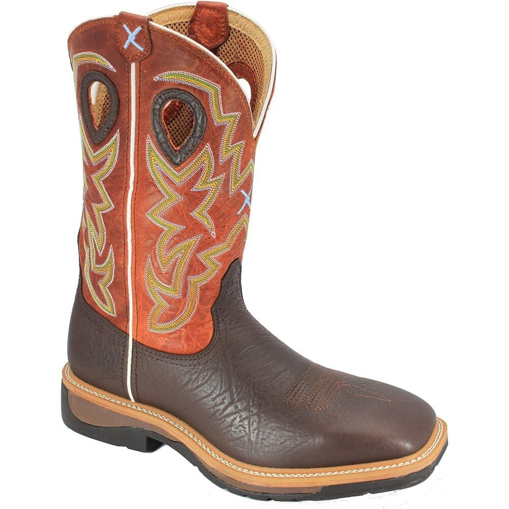 Image for Twisted X Men's Lite Cowboy ST Safety Boots - Cognac/Orange from bootbay