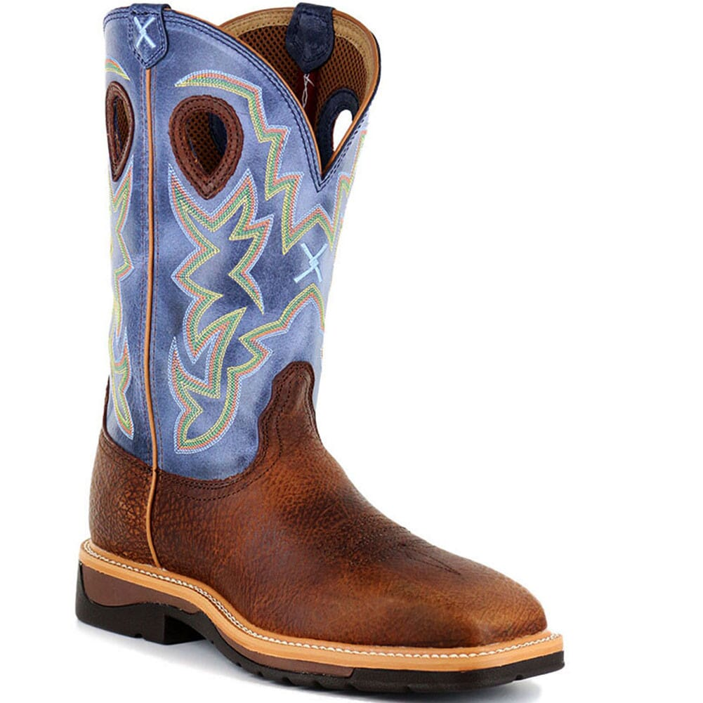 Image for Twisted X Men's Lite Cowboy ST Safety Boots - Peanut/Navy from bootbay