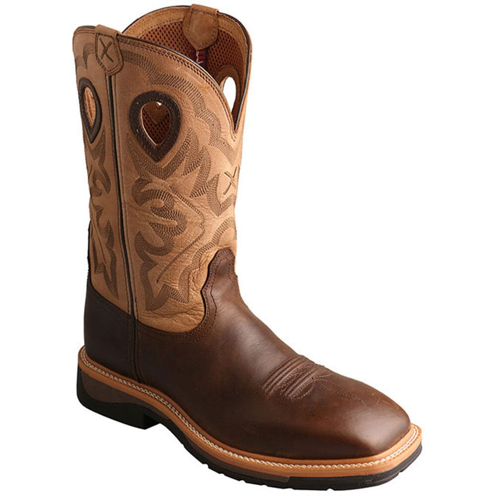 Image for Twisted X Men's Lite Cowboy Safety Boots - Crazy Horse from bootbay