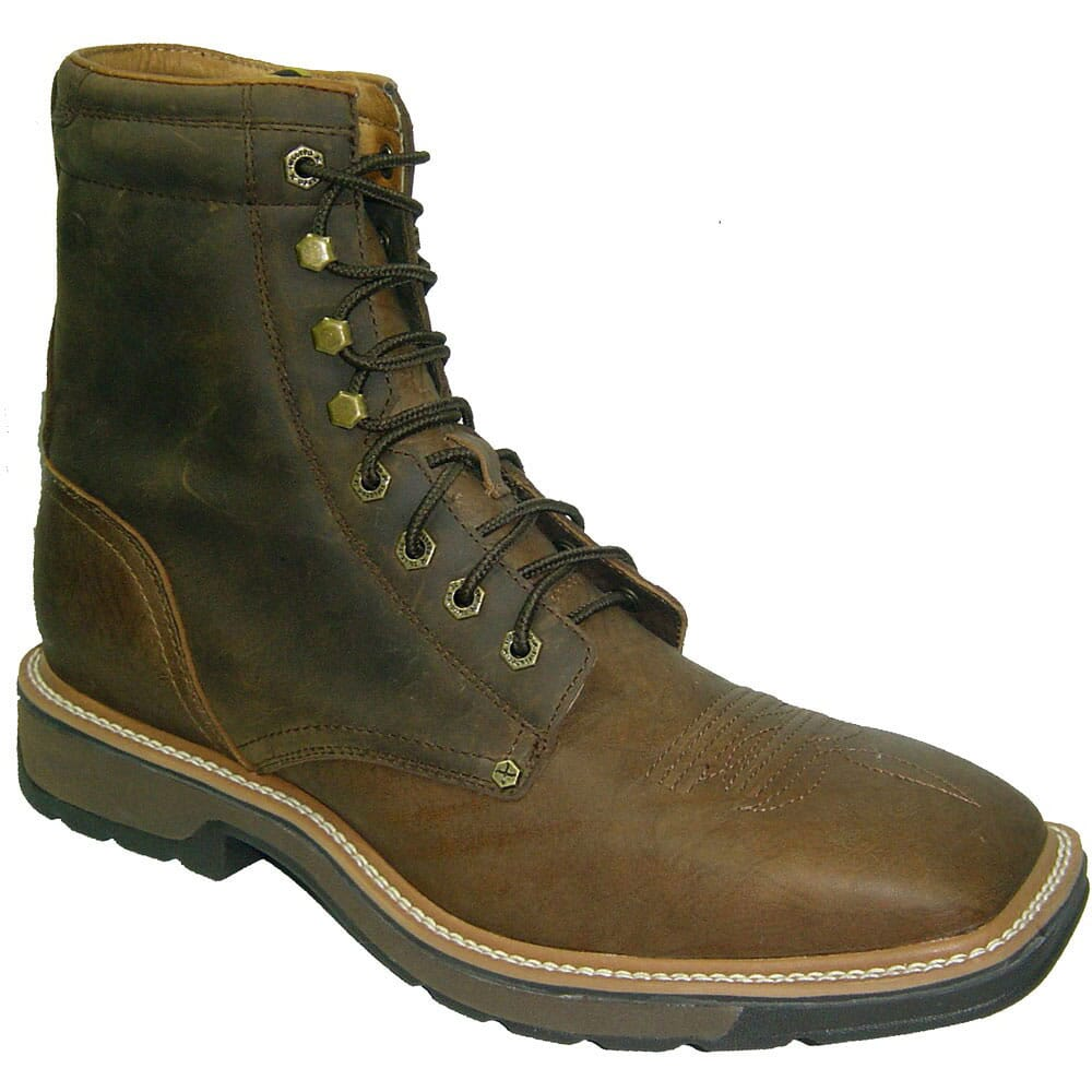 Image for Twisted X Men's Lite Cowboy Safety Lacers - Brown from bootbay