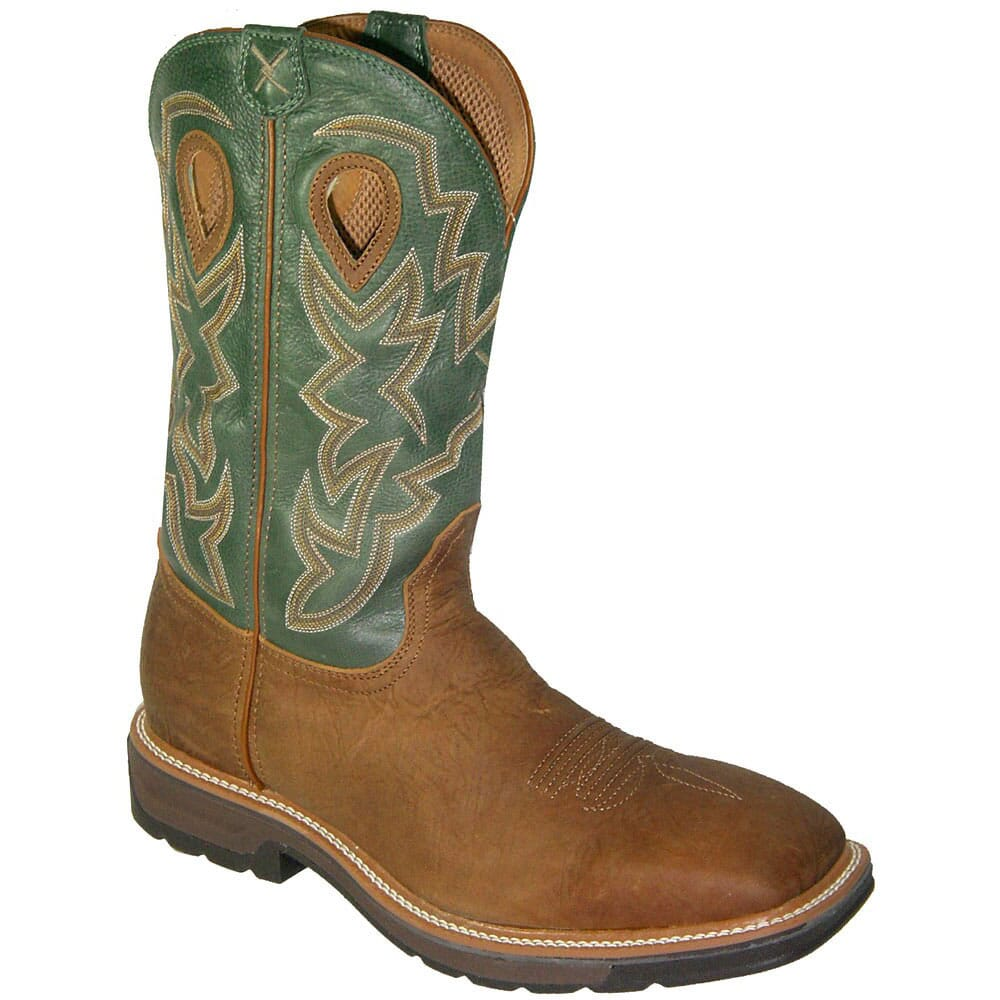 Image for Twisted X Men's Lite Cowboy WP Safety Boots - Distressed from bootbay
