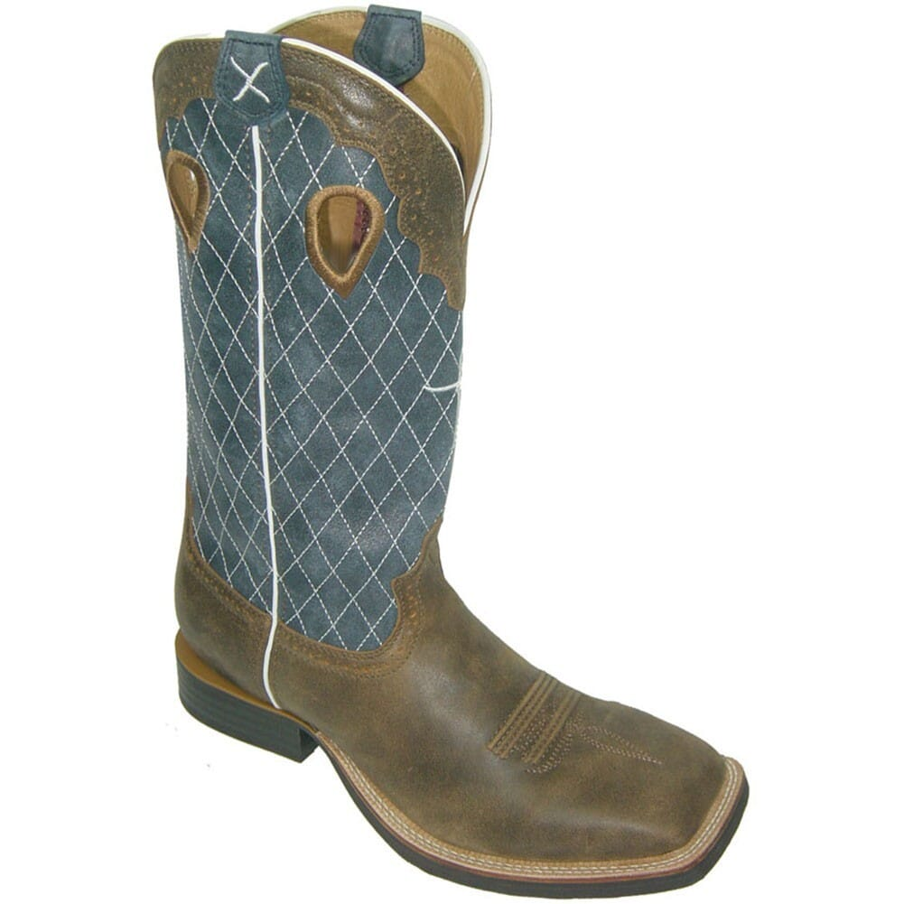 Image for Twisted X Men's Ruff Stock Western Boots - Bomber/Blue from bootbay