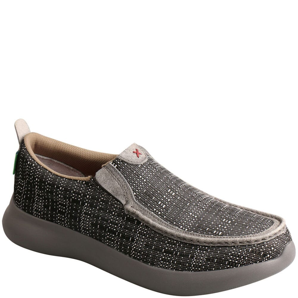 Image for Twisted X Men's Slip-On EVA12R Casual Shoes - Black/Grey from bootbay