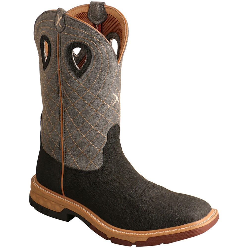 Image for Twisted X Men's CellStretch Work Boots - Rubberized Brown/Grey from bootbay
