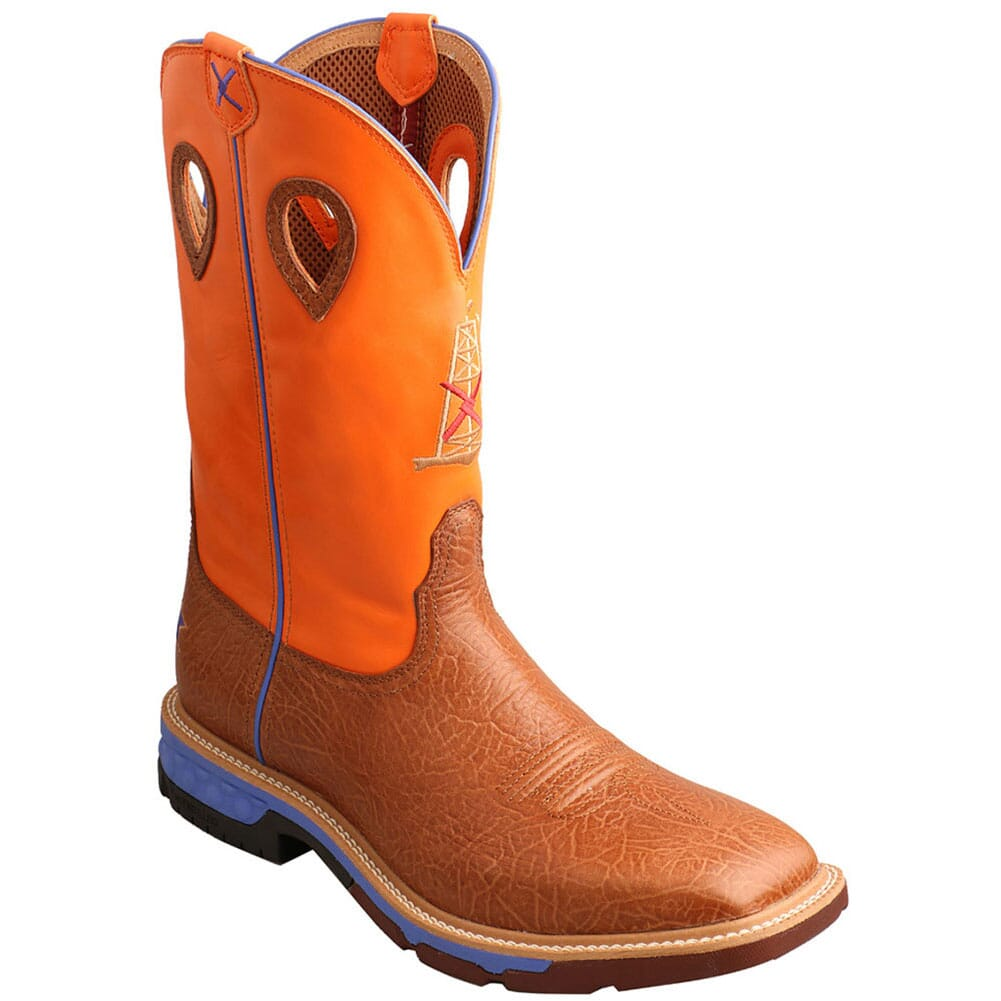 Image for Twisted X Men's CellStretch Safety Boots - Tan/Orange from bootbay