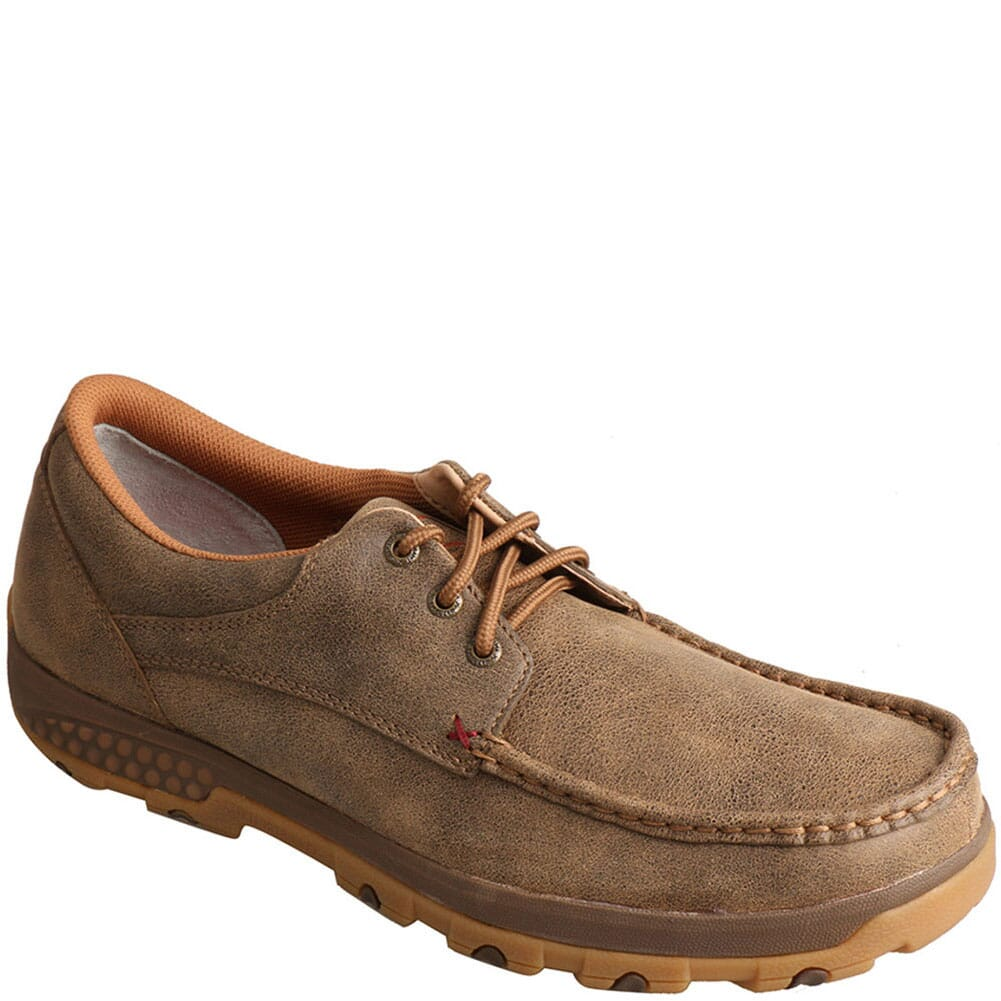 Image for Twisted X Men's CellStretch Driving Moc Boat Shoes - Bomber from bootbay
