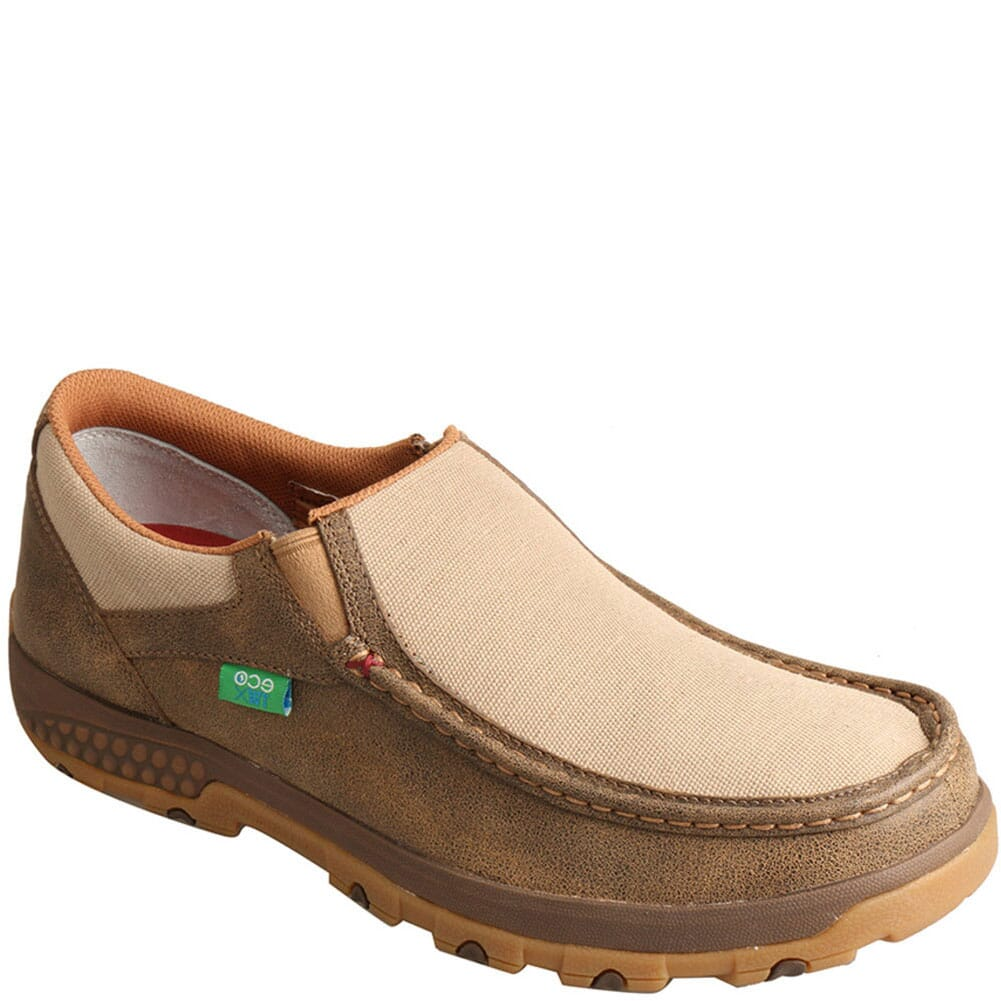 Image for Twisted X Men's CellStretch Driving Moc Slip On Shoes - Bomber/Khaki from bootbay