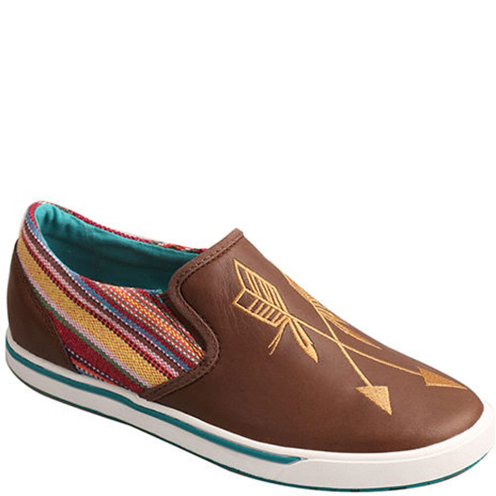 Image for Twisted X Women's Slip On Casual Shoes - Brown/Purple from bootbay