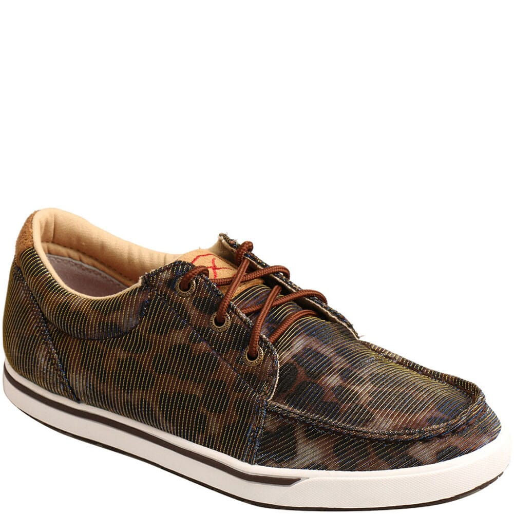Image for Twisted X Women's Kicks Casual Shoes - Shiny Leopard/Brown from bootbay