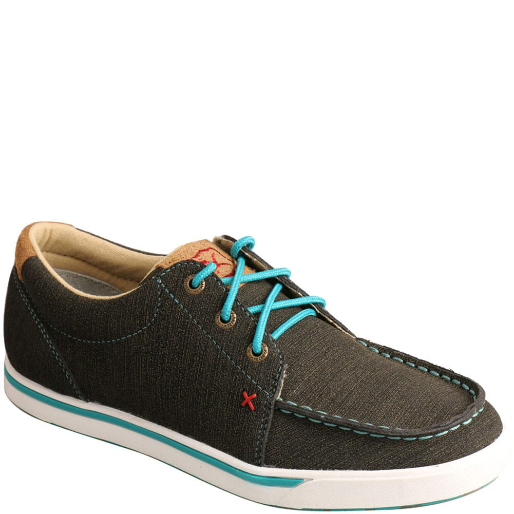 Image for Twisted X Women's Kicks Casual Shoes - Charcoal/Turquoise from bootbay