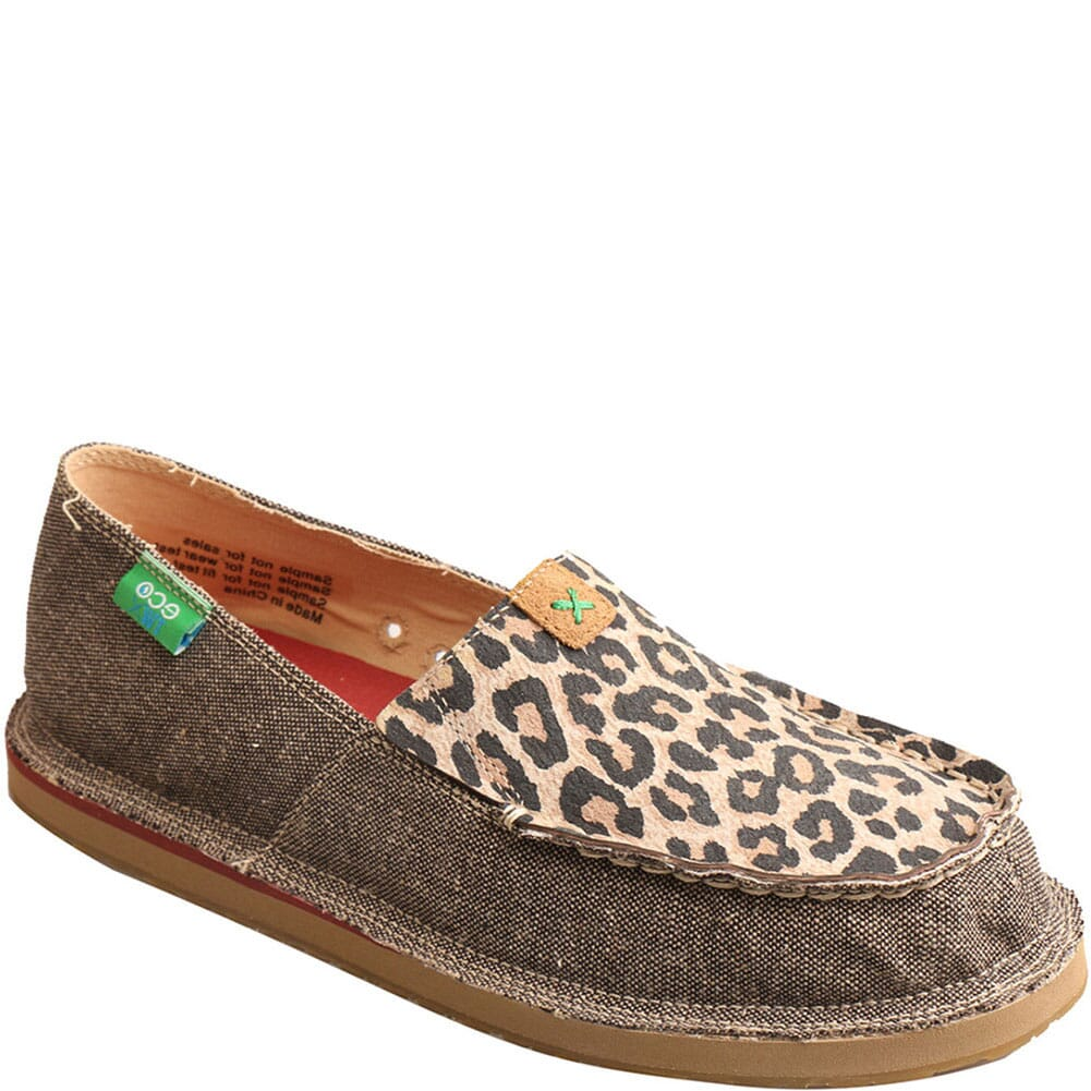Image for Twisted X Women's ecoTWX Slip-On Loafers - Dust/Leopard from bootbay