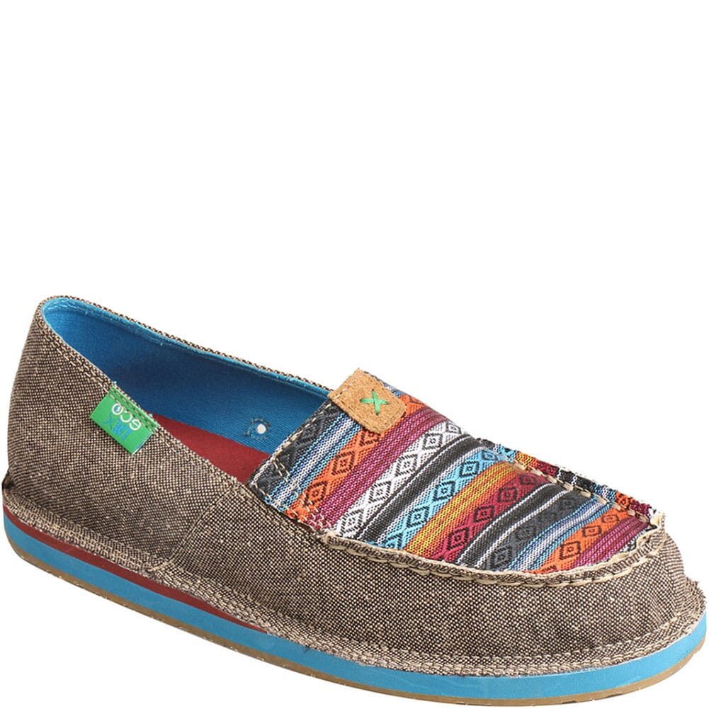 Image for Twisted X Women's ecoTWX Slip-On Loafers - Dust/Multi from bootbay