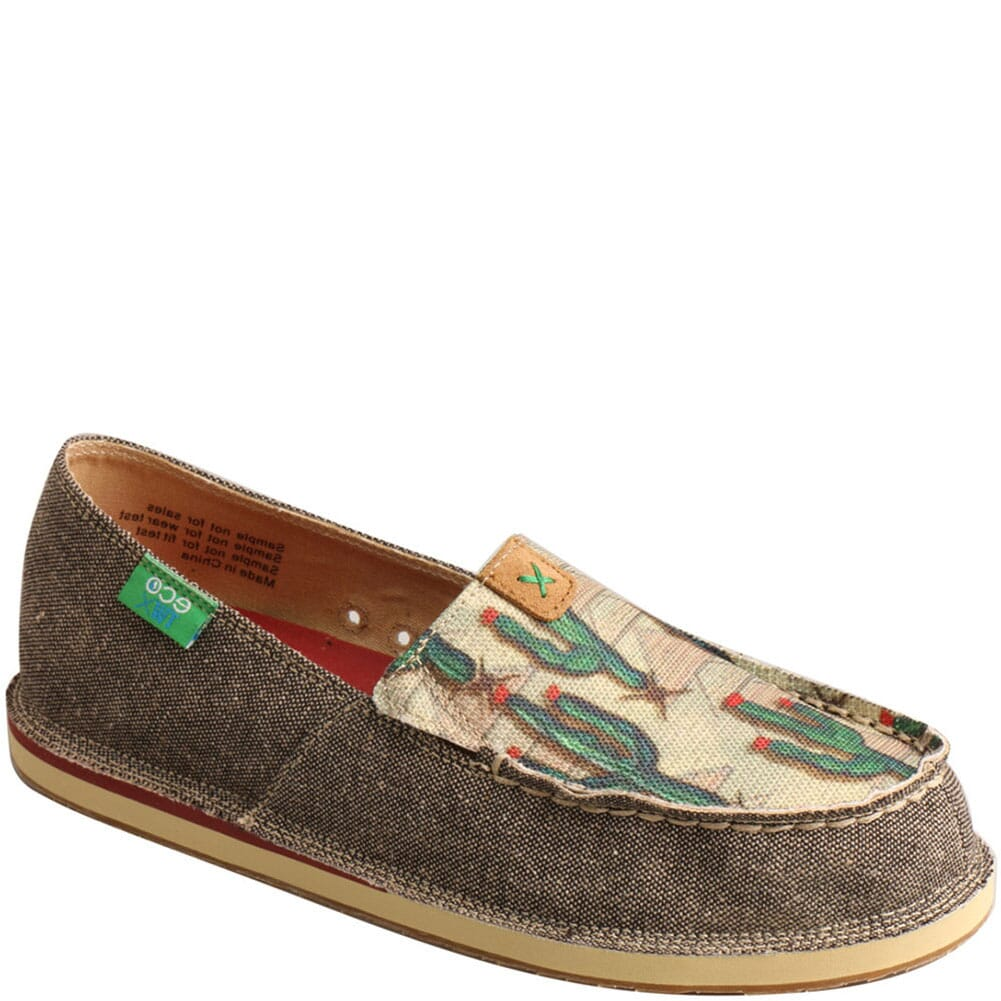 Image for Twisted X Women's ecoTWX Slip-On Loafers - Dust/Cactus Print from bootbay