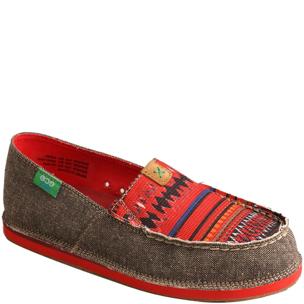 Image for Twisted X Women's ecoTWX Slip-On Loafers - Dust/Red from bootbay
