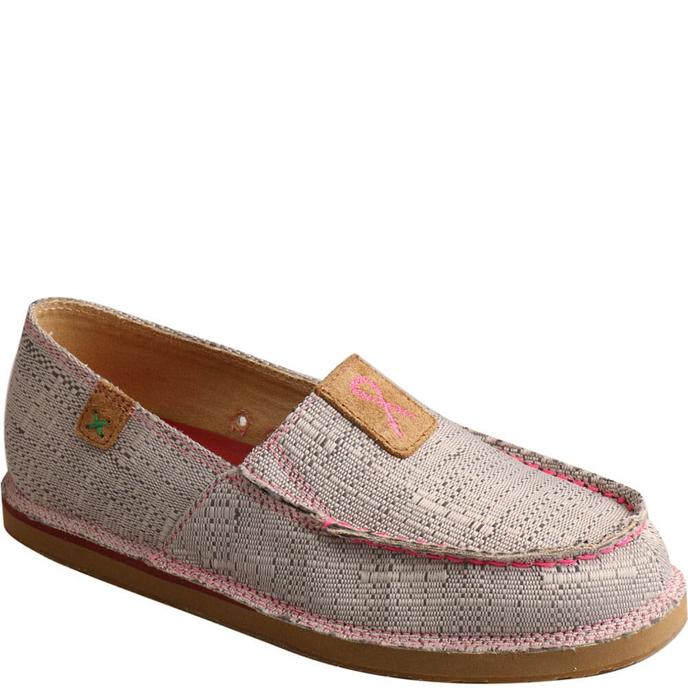 Image for Twisted X Women's Slip-On Loafers - Light Grey/Pink from bootbay