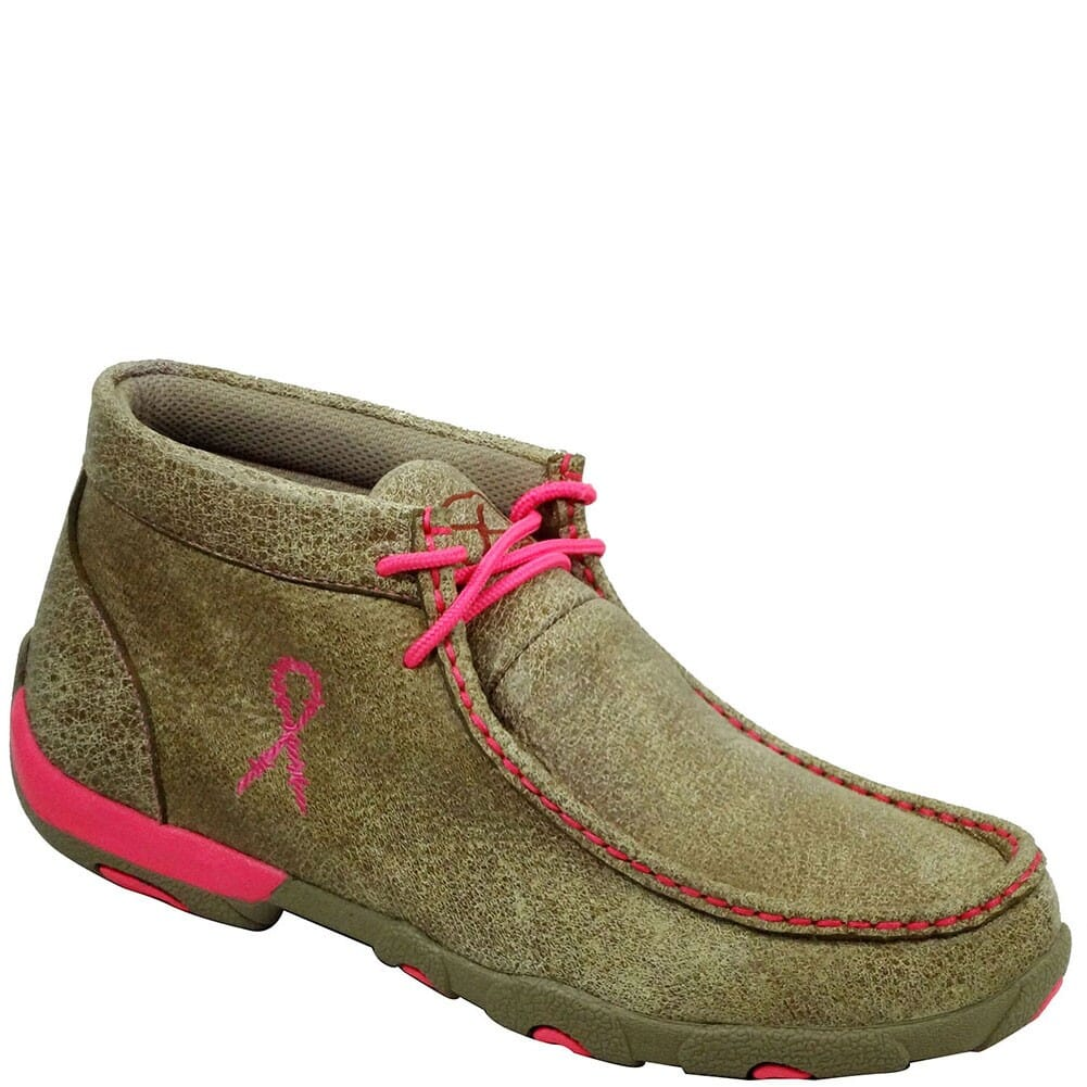 Image for Twisted X Women's Driving Moccasin Casual Shoes - Bomber/ Pink Breast Ca from bootbay