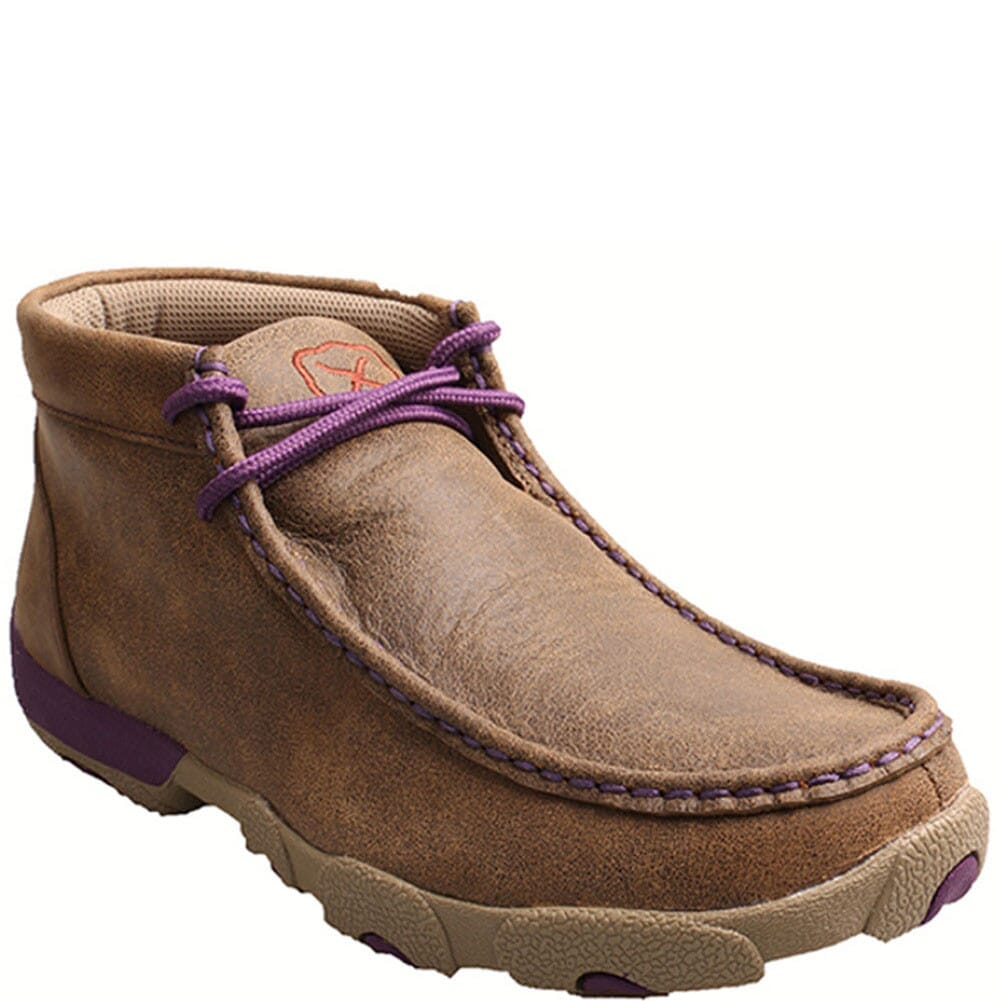 Image for Twisted X Women's Driving Moccasin Casual Shoes - Bomber/ Purple from bootbay